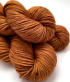 "RESERVED for Marianne** Hand Dyed Yarn ""Just Rusted Enough"" Rust Brown Copper Orange Gold Caramel Speckled Merino Worsted Superwash 218yds 100g x10"