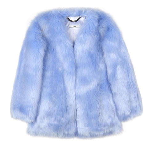 Baby Blue Boxy Coat