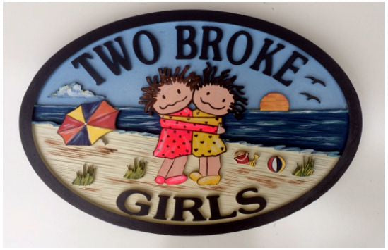 Beach House Signs , Girls, Personalized House Signs BH52