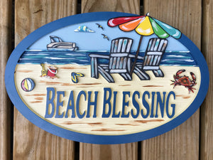 Beach House Signs - Chairs,  Personalized House Signs BH53