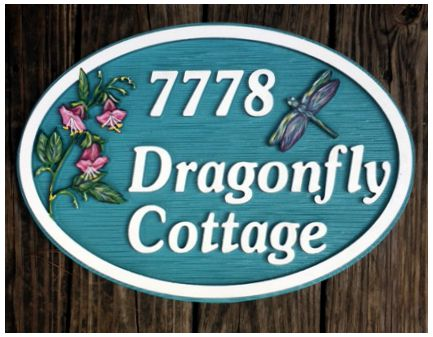 Misc. Signs , Dragonfly, Personalized House Signs MH05