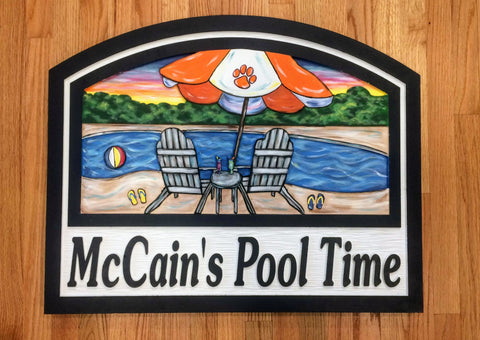 Pool Sign,      Personalized House Signs (PS01)