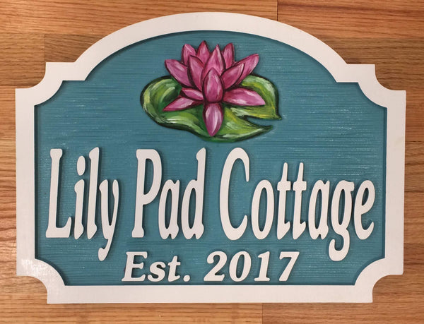 Misc. Signs - Lilly Pad, Personalized House Signs - MH06