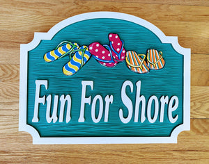Beach House Signs with Flip Flops, Personalized House Signs BH60