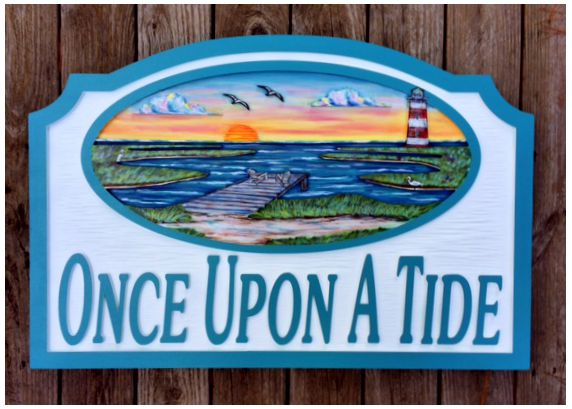 Beach House Signs - Dock - Marsh - Personalized House Signs - BH78