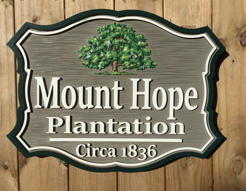 Misc. Signs - Oak Tree, Personalized House Signs - MS07