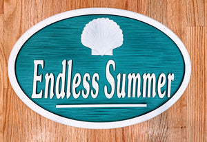 Beach House Signs - Shell, Personalized House Signs - TC04