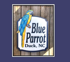 Beach House Signs with Parrot Personalized House Signs BH11
