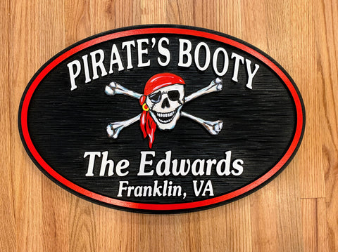 Misc. Signs - Pirate, Personalized House Signs (MS03)