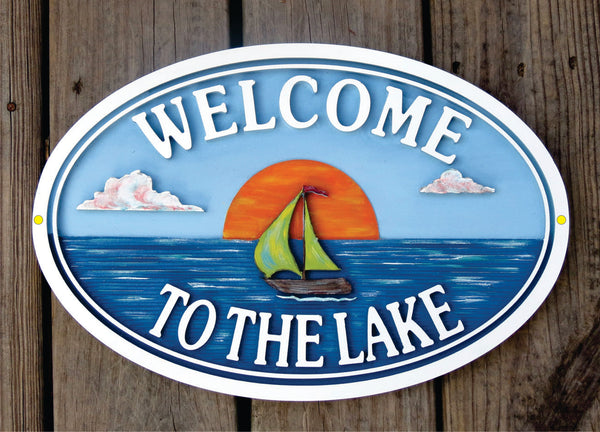 Beach House Signs - Sailboat,  Personalized House Signs BH40