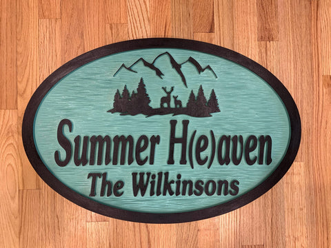 Cabin Sign, Mountain House Sign Personalized House Signs MH03