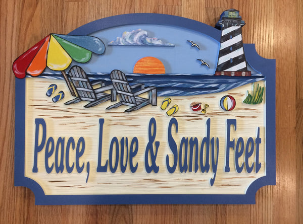 Beach House Signs - Lighthouse,  Personalized House Signs, (BH49)