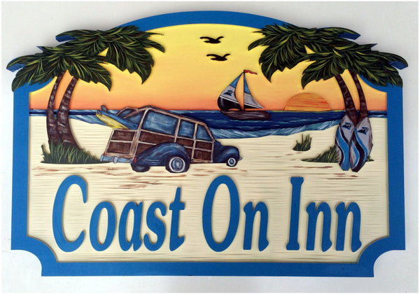 Beach House Signs - Surfer, Personalized House Signs (BH26)