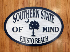 Beach House Signs - Palmetto Tree, Personalized House Signs - BH67