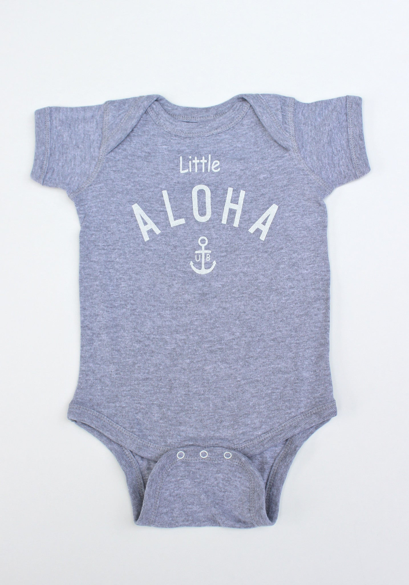 "Baby  ""Little ALOHA"" Onesie ( White / Gray / Pink)"