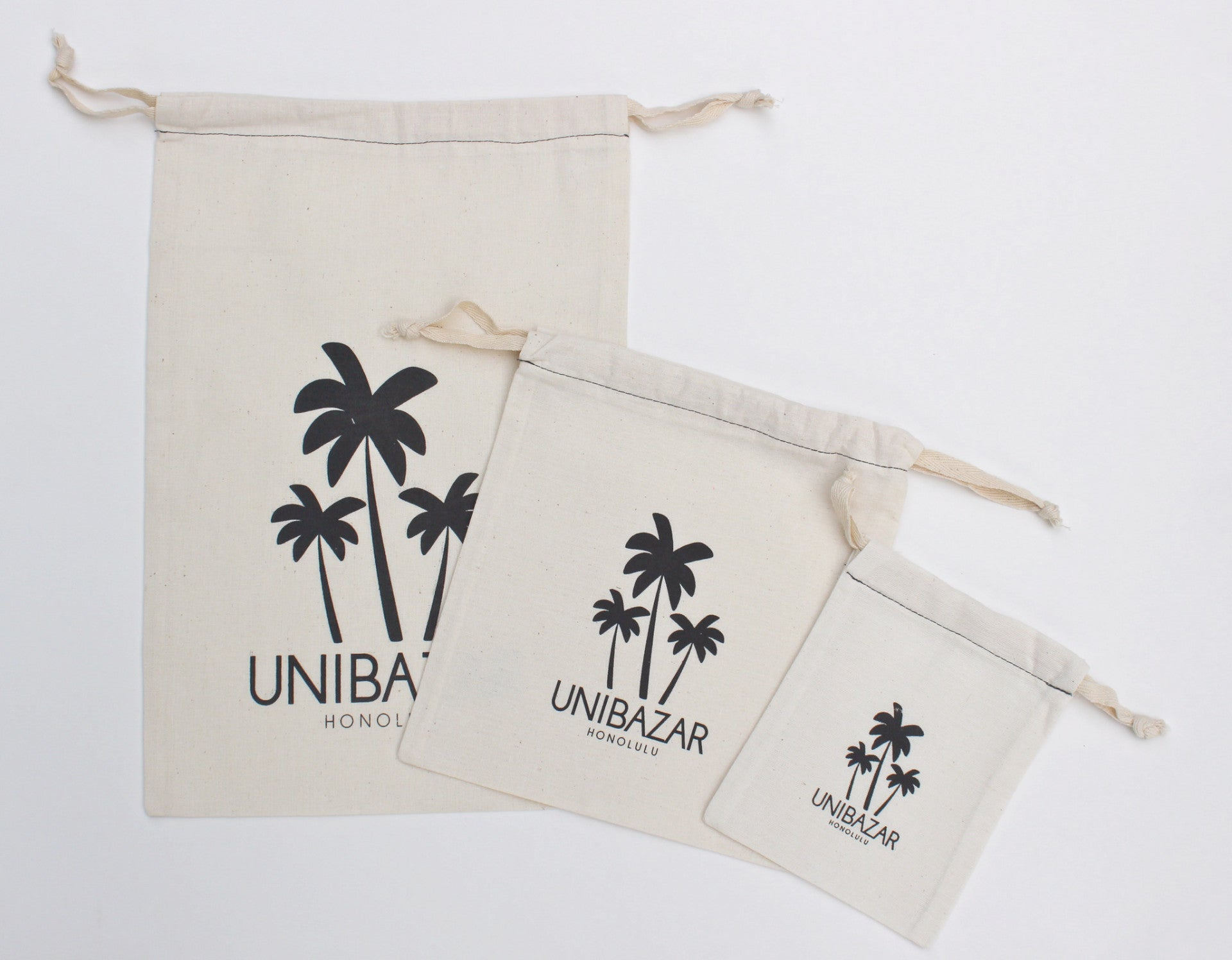 """ALOHA""/""Pams""/""Pineapple"" Pouch Set (3pouches)"