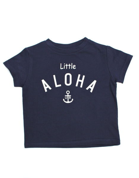 "Kids T-shirt ""Little ALOHA"" (White/Navy/Pink/L.Blue)"