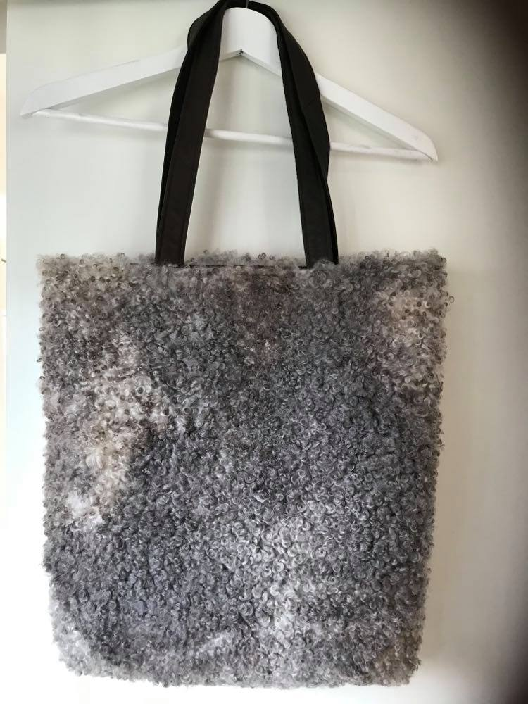 Exclusiv Lammeskinds shopper