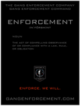 Definition of Enforcement Poster