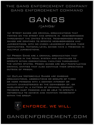 Definition of Gangs Poster