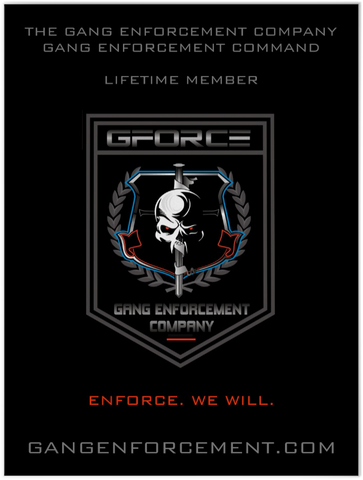 Black Team One Lifetime Member Poster