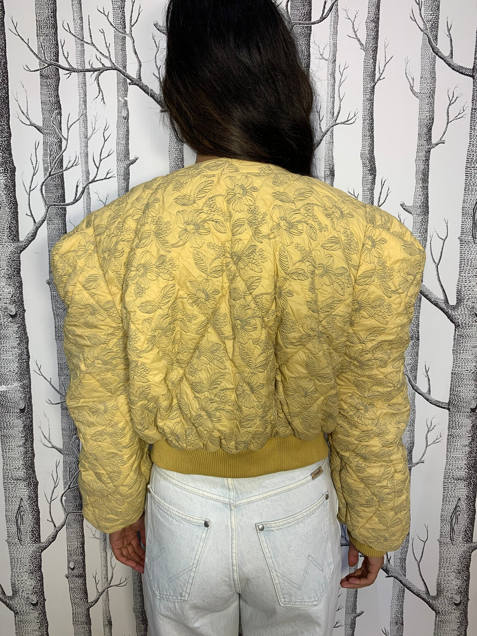 Plush Cropped Floral Quilted Soft Jacket