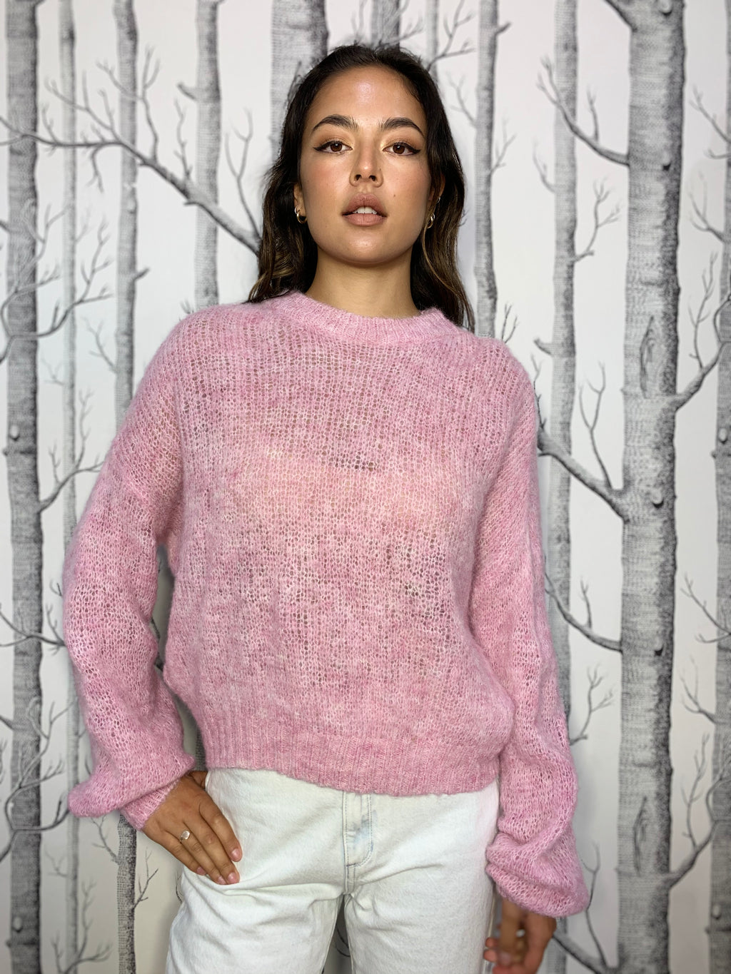 Light Balloon Sleeve Wool Jumper