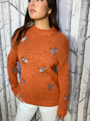 Soft Jumper with Embroidered Animals