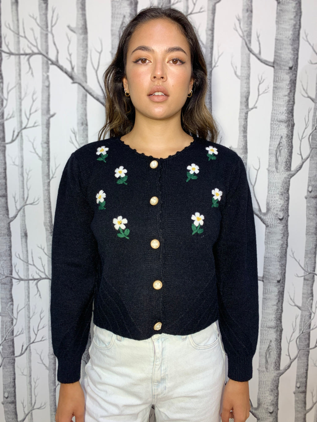 Daisy Embroidered Cardigan