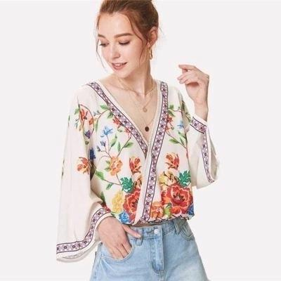 Boho Flower Blouse trendy