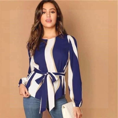 Boho Blue And White Blouse low price