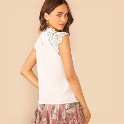 White Boho Chic Top cute