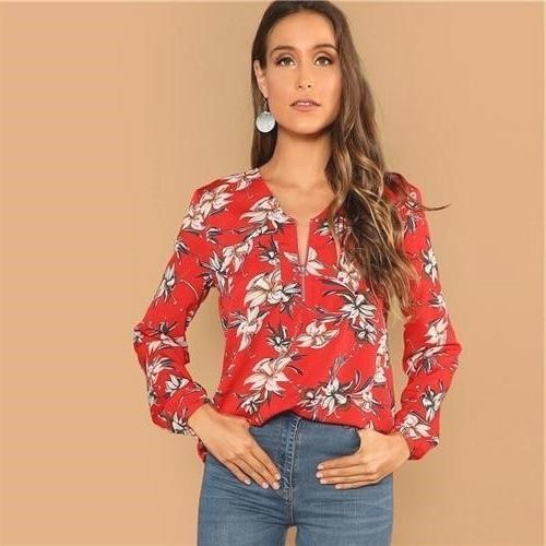 Boho Red Top finely tailored