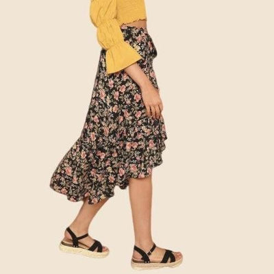 Floral Boho Skirt high quality