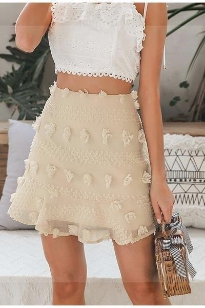 Boho Flounced Skirt women