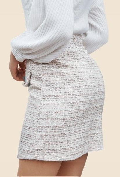 White Boho Skirt luxury