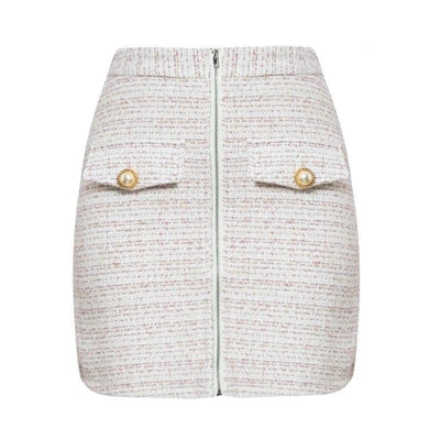 White Boho Skirt chaming