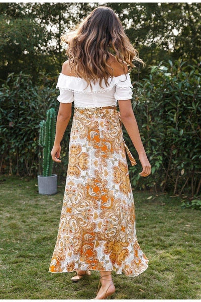 Boho Slit Skirt boho chic