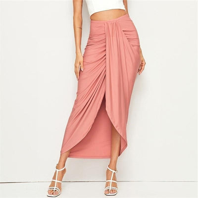 Pale Pink Boho Long Skirt review