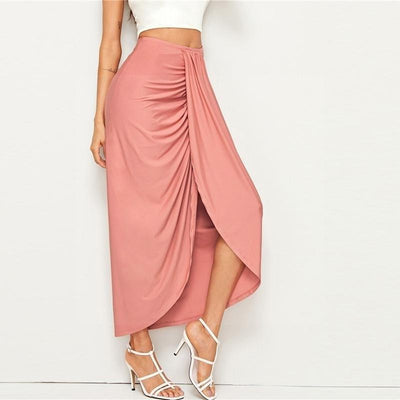 Pale Pink Boho Long Skirt trendy