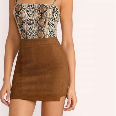 Brown Boho Skirt chic