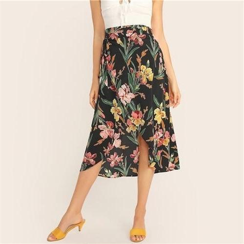 Boho Floral Skirt low price