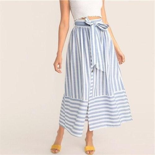 Boho Blue Long Skirt cute