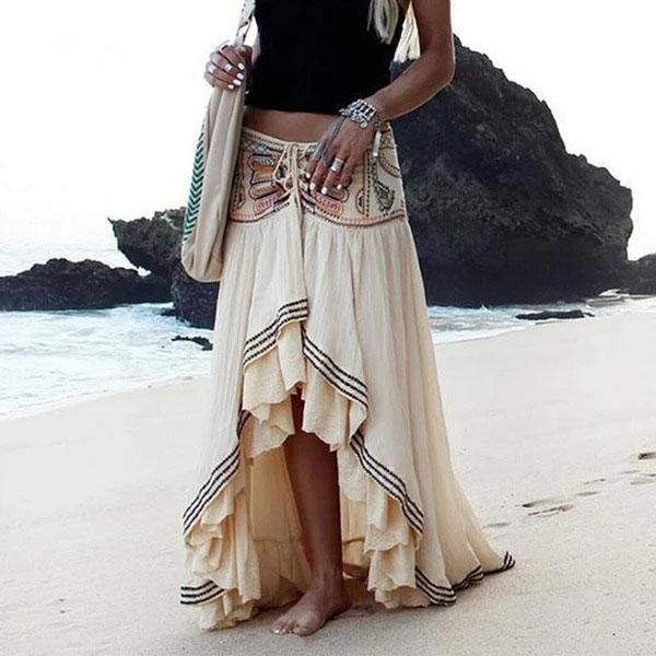 Short Boho Skirt Short Front Long Rear