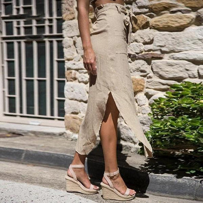 Beige Boho Long Skirt 2019