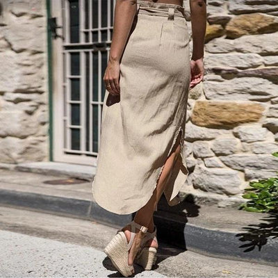Beige Boho Long Skirt bohemian