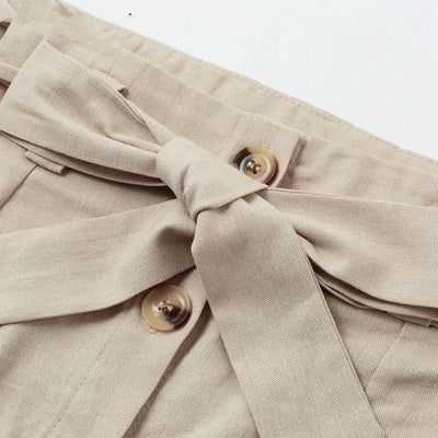 Beige Boho Long Skirt