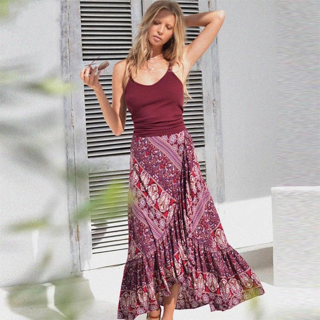 Boho Viscose Long Skirt 2019