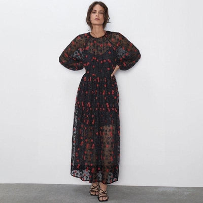 The Black Boho Long Dress luxury