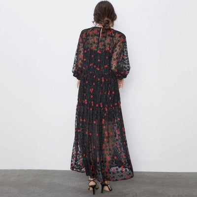 The Black Boho Long Dress boho chic